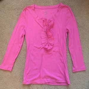 Old Navy 3/4 Length Pink Blouse Size S/P